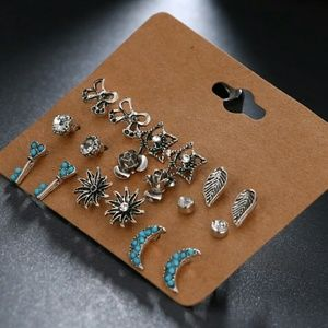 9 pairs Boho Fashion Earrings